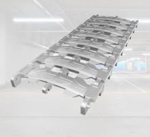 - 압축하중에 대한 저항이 우수한 주철(FCD450)로 제작한  트렌치 커버- 차량통과시 소음발생이 적다.- 제품유닛간 볼트체결로 연결하여 손쉽게 설치가 가능- 아연도금처리로 내구성 및 제품수명이 우수함- 소음발생이 적기 때문에 주거공간에 사용- 내구성 및 내하중이 높아 공장에 사용가능